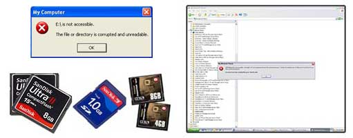 Memory card error recovery.